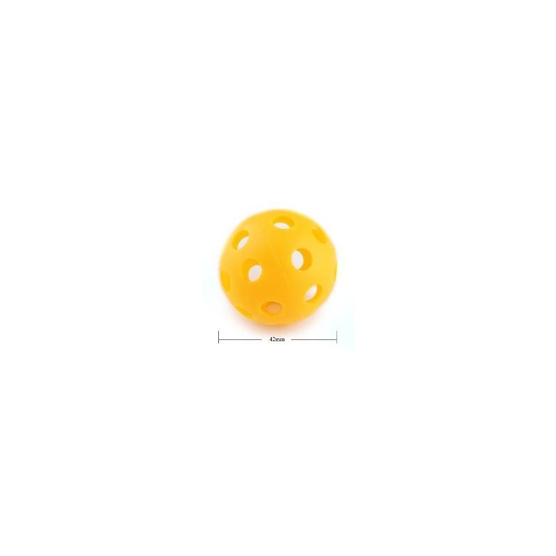 Balles de practice en plastique perforées