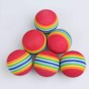 Balles de practice en mousse motifs anneaux multicolores