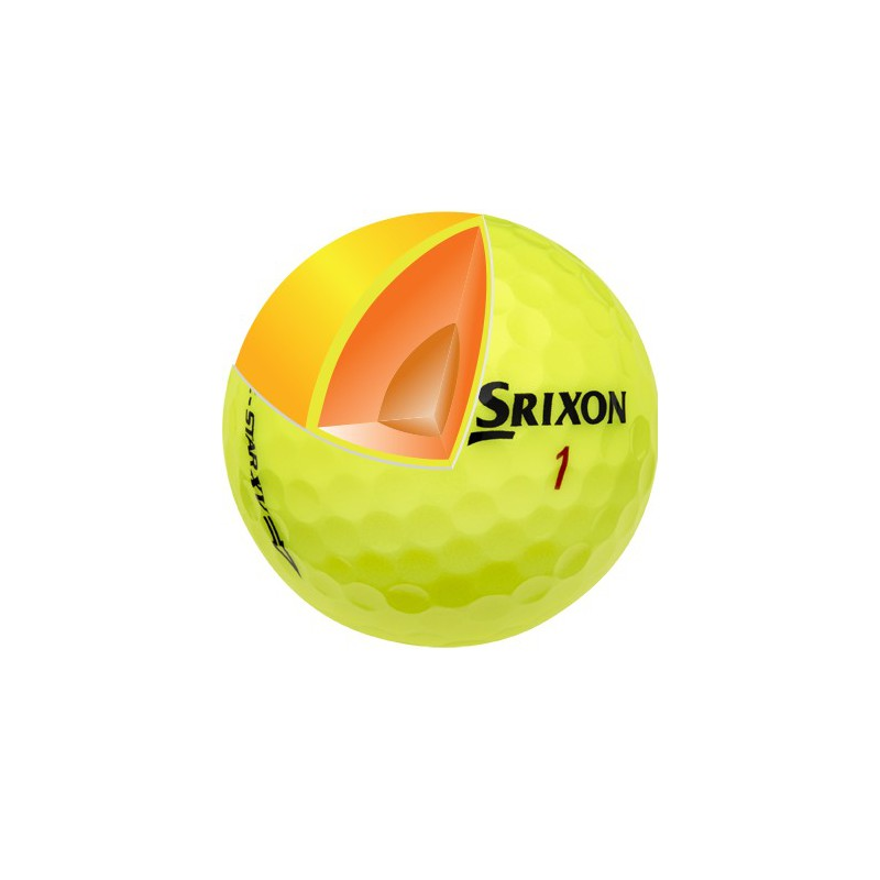 Balle Srixon Z-STAR XV Tour yellow