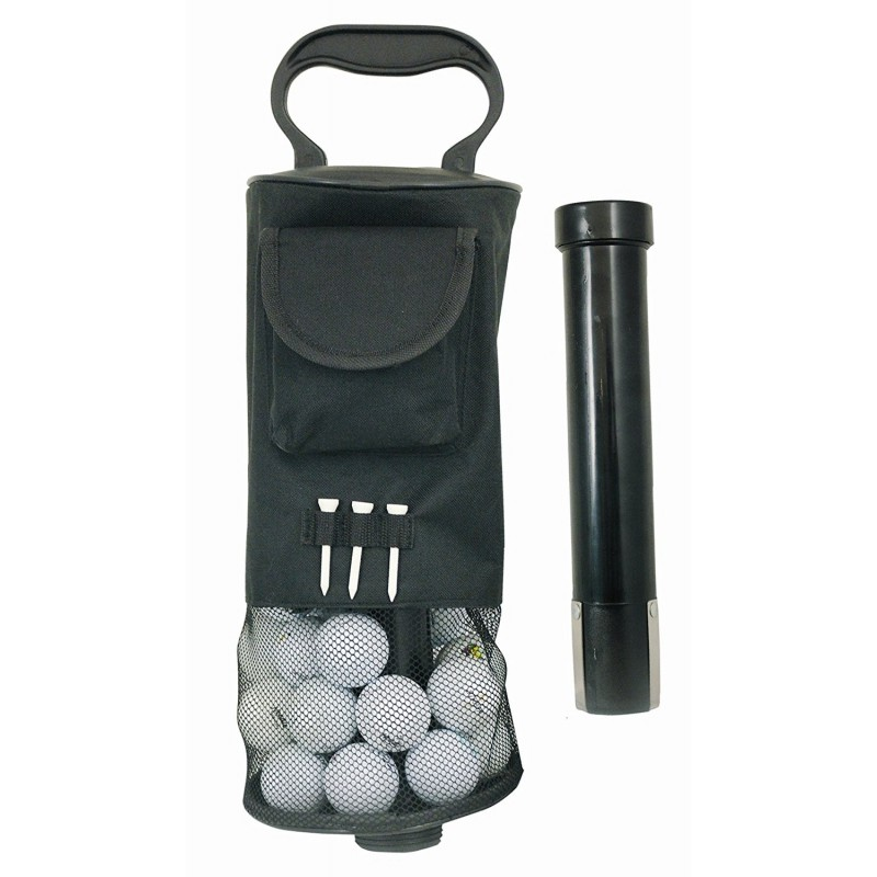 Tube ramasse balles de golf avec rangement de balles de golf