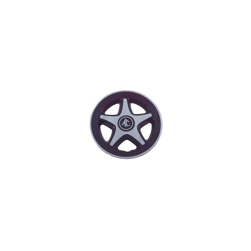 Couvercle de roue Tek-Cart noir et chrome PACK DE 4